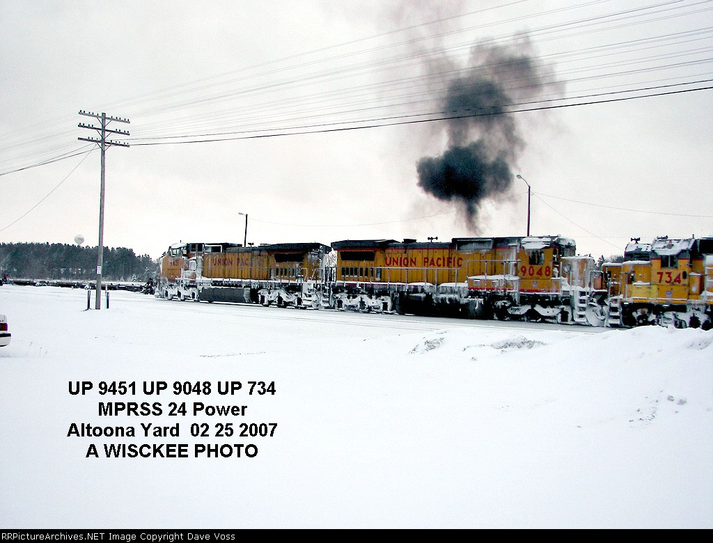 UP 9451 w/ UP 9048 & UP 734